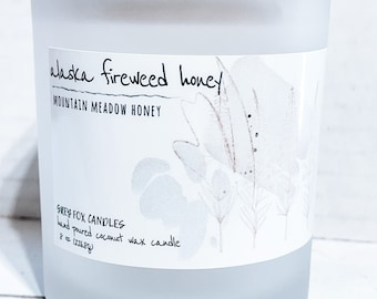 ALASKA Fireweed Honey Coconut Wax Candle* Made in Alaska*Small Business* Small Batch Candles* Handmade Candle