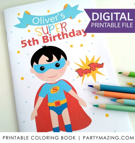 Superhero Coloring Books Printable Boy Birthday Party Favor Children's  Activity Booklet Party Favors PK11 E425 By PARTYMAZING Catch My  Party