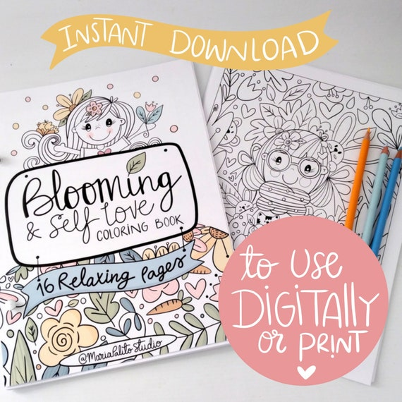 Self Love Digital Coloring Book For Ipad Or Printable Procreate Coloring Book E503 By Partymazing Catch My Party