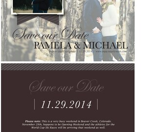 Custom Wedding Save the Dates