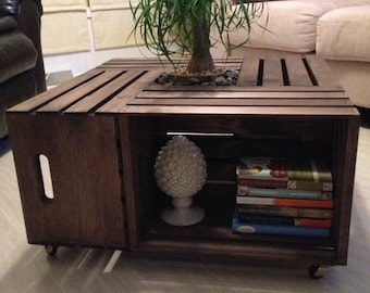 Rustic wood crate coffee table. Please read delivery/shipping info in product details before purchasing :)