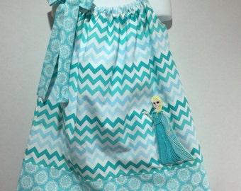 Pillow Case Dress Sundress Park Queen Princess Frozen Anna Elsa Sisters Ice Boutique Birthday Party Pillowcase Summer Dress Girl Outfit