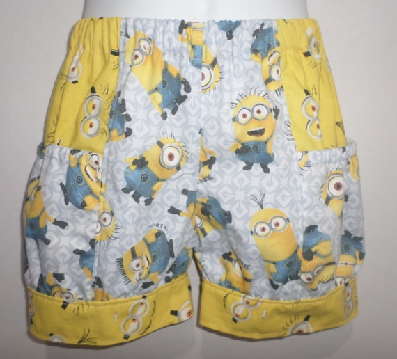 Despicable Me Minion Minions Boutique Baby Toddler Boutique Bubble Shorts with Side Pocket! Birthday Party Bottoms Park Everyday
