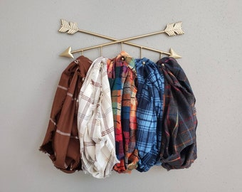 Colors of Fall Plaid Fringe or Hemmed Scarf Collection Plaid Infinity Scarves Choose Your Print