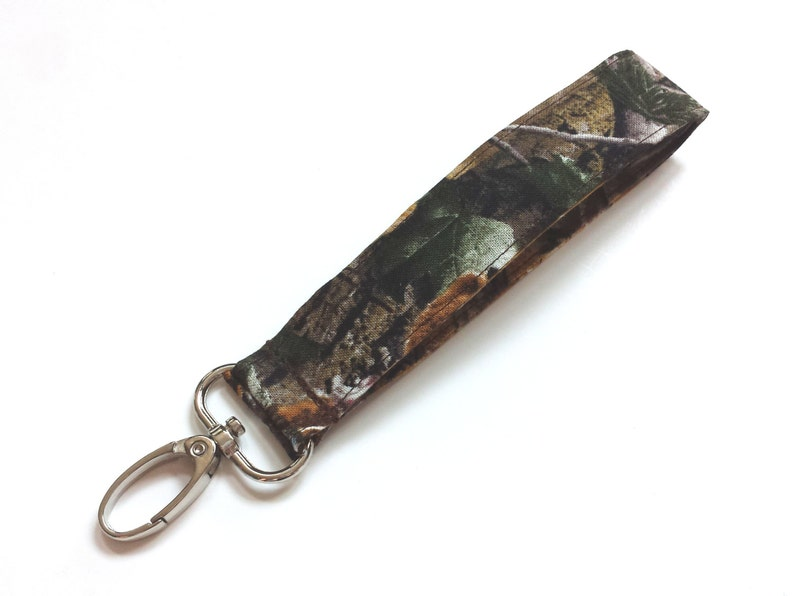 Natural Camouflage Fabric Wristlet Camo Fashion Keychain or  7ef51e047