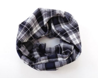 Color Me Black & Blue Plaid Toddler Scarf Small Print Plaid Baby Scarf Flannel Childrens Scarves for Babies Kids Scarf Childs Scarf Winter