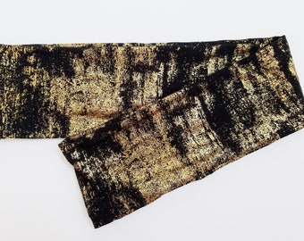 Shimmer Baby Scarf Shimmery Toddler Scarf Baby Girl or Boy Holiday Scarf Childrens Scarves Black and Gold Baby Scarves for Babies Infinity
