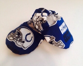 Indianapolis Colts baby booties, colts baby shoes, colts baby shoes