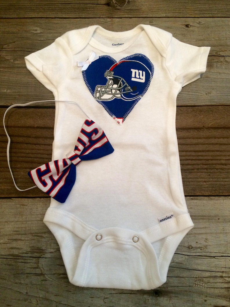 e12946a7 New York giants onesie, giants baby girl outfit, ny giants baby outfit