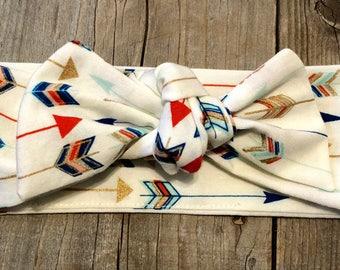 Arrow headband, areow headwrap, arrow baby headwrap