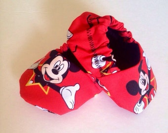 Mickey mouse babyboy booties, mickey mouse baby shoes