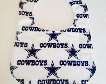 Dallas Cowboys baby bib, cowboys baby bibs
