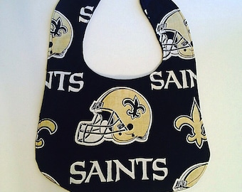 New Orleans Saints baby bib