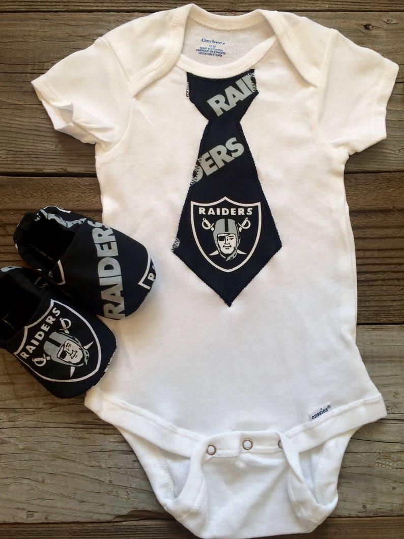 bf173d801 Oakland Raiders tie bodysuit Raiders baby boy outfit raiders   Etsy