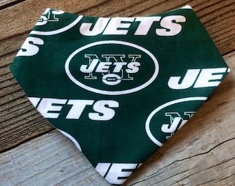 New york jets bandana bib, NY Jets bib, Jets baby bib