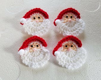 3ae7625542a crochet santa pins Christmas pins - set of 4 christmas pin santa made and  ready to ship
