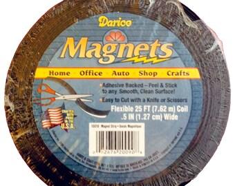 e3633059380 Flexible Magnetic Strip Tape 25  Roll (1 2