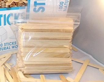 "200 ct Popsicle Sticks / Craft Sticks 4 1/2"" x 3/8"""
