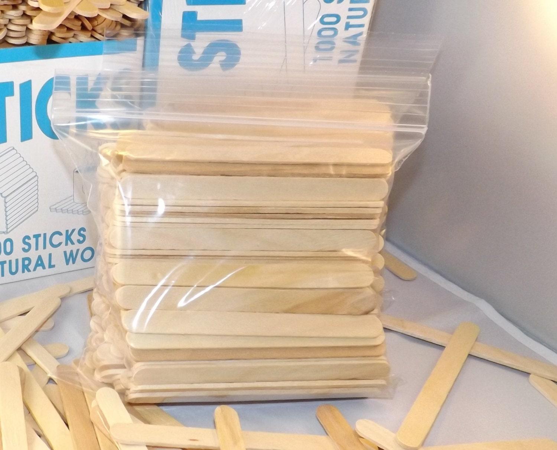 "Waxing Crafts 1000 ct Bulk Jumbo 6/"" Tongue Depressor Popsicle Sticks"