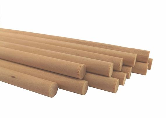 "Wooden Dowel Rods 3//8/"" x 12/"" 10 Pack Natural Birch"
