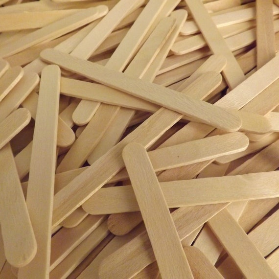 4.5 Colored Wooden Craft Sticks Pack of 500ct