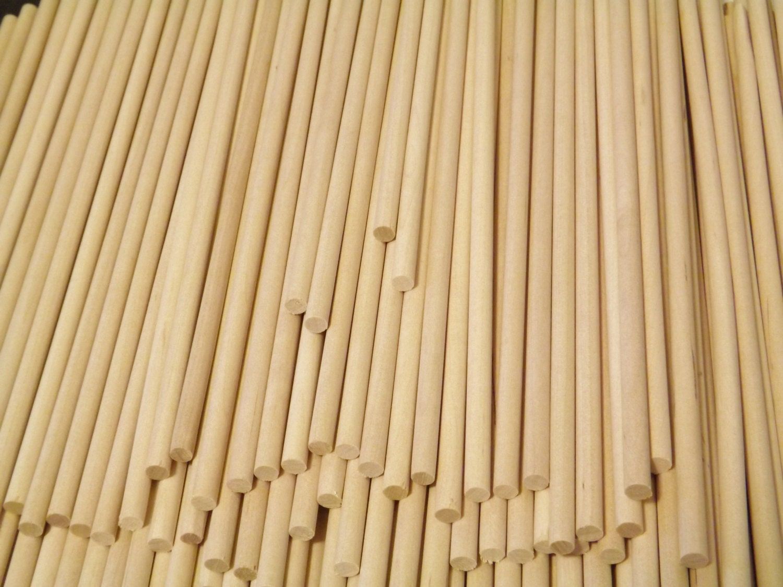 Pack of 12 Perfect Stix Wooden Dowels 14 x 1//4