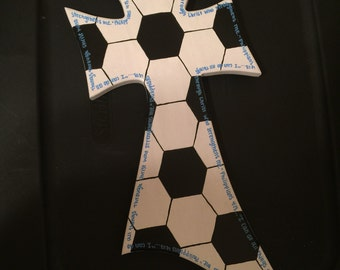 16 inch hand painted soccer cross