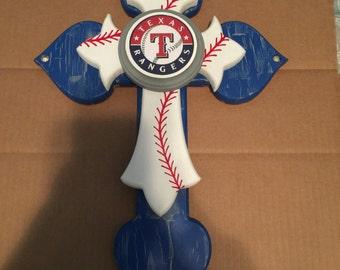 16 inch Texas Rangers cross