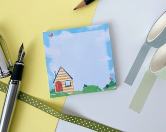 STICKY NOTE PAD, Unique Design, Stationary, Notes, Journaling, School, Cute, Illustrated