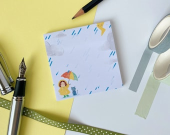 STICKY NOTE PAD, Stationary, Notes, Journaling, School, Cute, Illustrated, Notes, Accessory, School Supplies