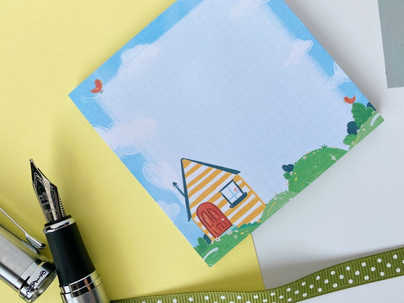 Journaling School STICKY NOTE PAD Notes Unique Design Illustrated Cute Stationary