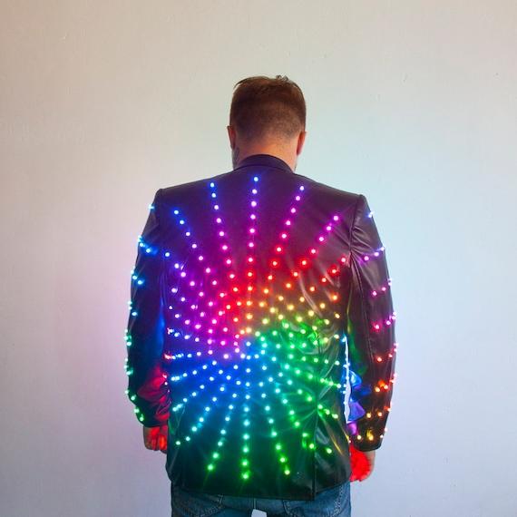 LED Light Up Stylish Disco Party Jacket Costume / Glow
