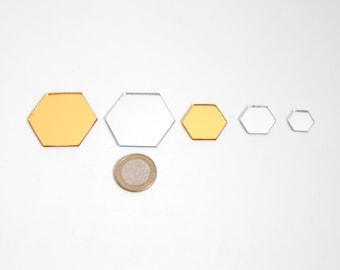 Bulk hexagon mirror pieces for sale - from ETERESHOP _M03