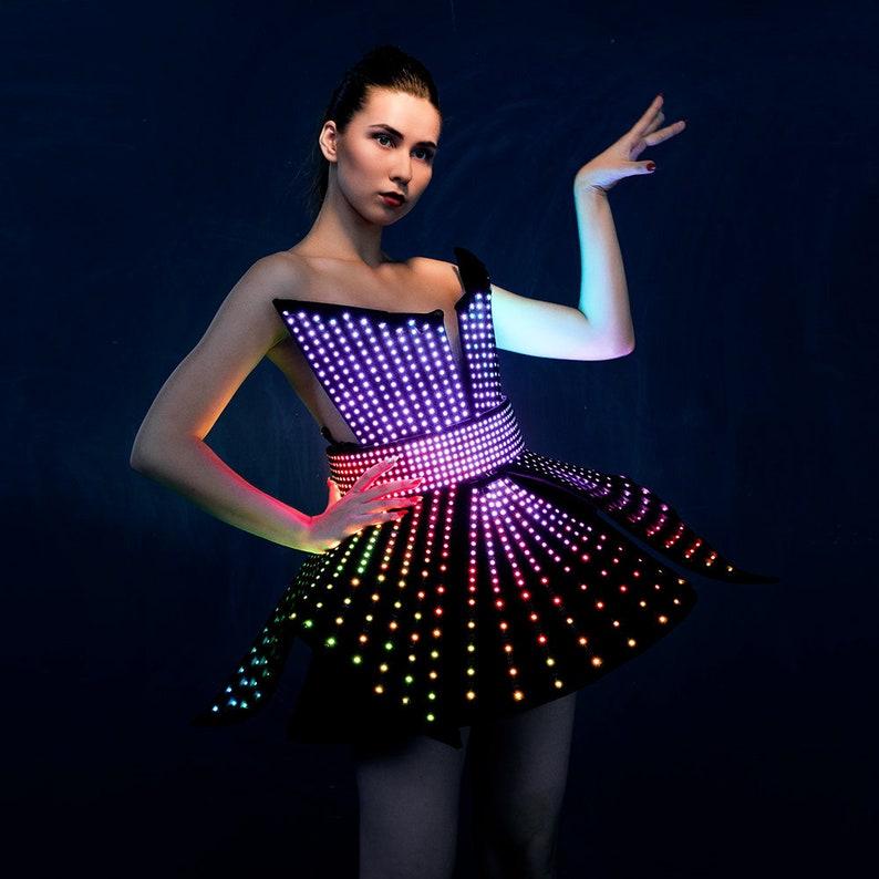 Smart LED Dress Rave Costume with a LED Belt by  ETERESHOP image 0