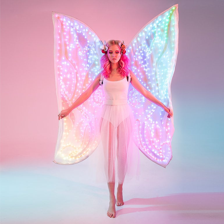 Smart LED light up wireframe butterfly wings from ETEREshop /_P34