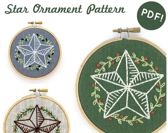 Star Ornament Pattern - Digital Download