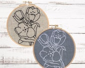 Embroidery Kit, Beginner Embroidery Kit, Hand Embroidery, Embroidery Pattern, DIY Embroidery Kit, Modern Embroidery Kit, Embroidery Tutorial