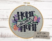 Embroidery Kit, Hand Embroidery Kit, Home Sweet Home, DIY Embroidery Kit, Modern Embroidery, DIY Embroidery, Housewarming gift, Home