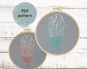 Feather embroidery pattern, hand embroidery pattern, DIY feather embroidery tutorial, I Heart Stitch Art, iheartstitchart, DIY hoop art