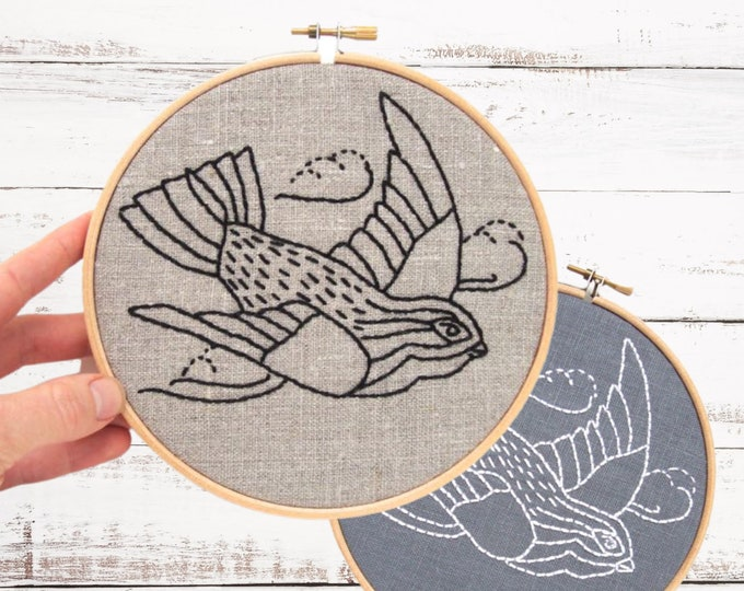 Embroidery kit tutorial, embroidery hoop art, embroidery kit, vintage bird, modern embroidery kit, hand embroidery pattern, iheartstitchart