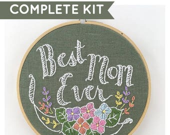 Best Mom Ever Embroidery Kit
