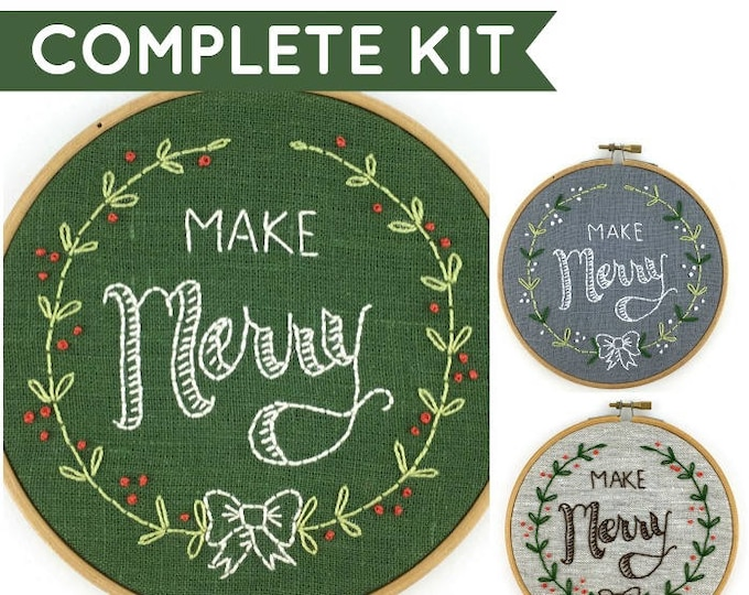 Make Merry Embroidery Kit