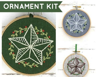 Star Ornament Embroidery Kit