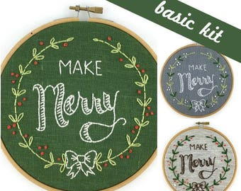 Make Merry Embroidery Kit {basic}
