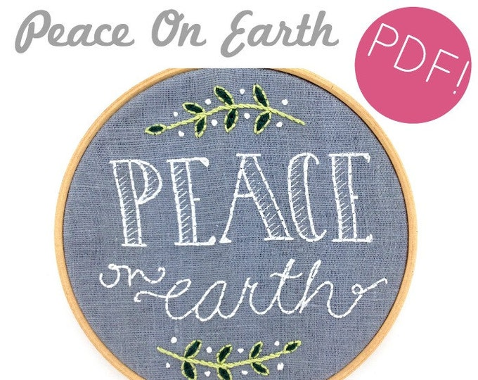 Peace On Earth embroidery pattern - digital download