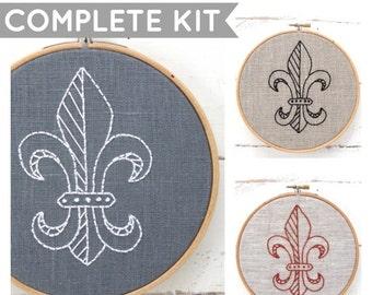 Embroidery Kit: Fleur De Lis