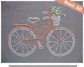 Embroidery Kit, Hand Embroidery Kit, DIY Embroidery, Modern Embroidery Kit, DIY Embroidery Kit, Bicycle Embroidery, I Heart Stitch Art