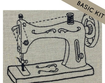 Vintage Sewing Machine Embroidery Kit {basic}