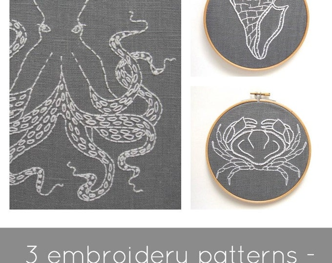 Embroidery Pattern Set - Digital Download