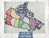 Embroidery Kit: Rainbow Map Sampler